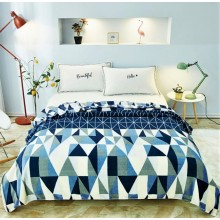 Patura Cocolino pufoasa pentru pat dublu 200 x 230 cm Imprimeu geometric