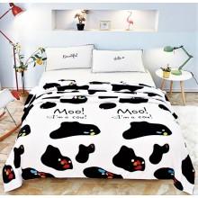 Patura Cocolino pufoasa pentru pat dublu 200 x 230 cm Imprimeu vacuta