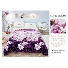Patura Cocolino pufoasa pentru pat dublu 200 x 230 cm Crini