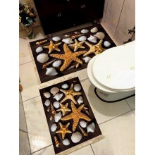 Set 2 Covorase de Baie Antiderapante Starfish