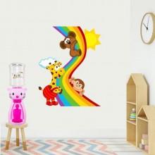 Dozator de apa pentru copii, 2 litri, Hello Kitty roz cu papion mov