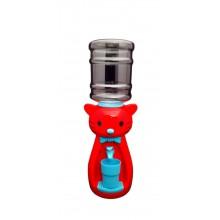 Dozator de apa pentru copii, 2 litri, Hello Kitty Rosu cu papion albastru
