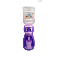 Dozator de apa pentru copii, 2 litri, Hello Ratusca mov cu papion roz