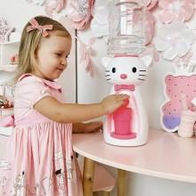 Dozator de apa pentru copii, 2 litri, Hello Ratusca rosie cu papion verde
