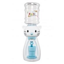 Dozator de apa pentru copii, 2 litri, Hello Kitty alb cu papion albastru