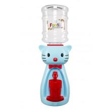 Dozator de apa pentru copii, 2 litri, Hello Kitty albastru cu papion rosu