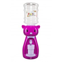 Dozator de apa pentru copii, 2 litri, Hello Kitty mov cu papion mov deschis