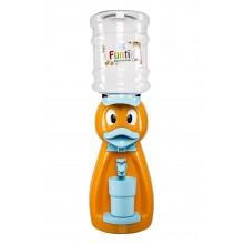 Dozator de apa pentru copii, 2 litri,Ratusca orange cu papion albastru