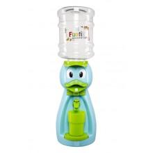 Dozator de apa pentru copii, 2 litri,Ratusca albastra cu papion verde
