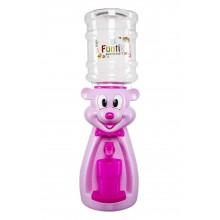 Dozator de apa pentru copii, 2 litri,Ursulet Roz cu papion Roz