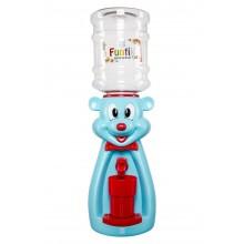 Dozator de apa pentru copii, 2 litri,Ursulet Albastru cu papion rosu