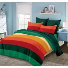 Lenjerie de pat 2 persoane Bumbac Finet 6 piese Multicolora