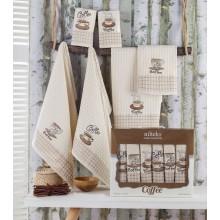 Set 6 Prosoape de bucatarie, Nilteks, brodate, 50x70 cm, Imprimeu Cesti de Cafea