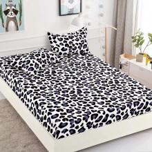 Set Husa de pat cu elastic din Bumbac Finet si 2 fete de perna Animale print new 180 x 200 cm