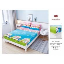 Set Husa de pat Cocolino cu elastic si 2 fete de perna pentru pat dublu 180 x 200 cm PEPA PIG