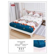 Set Husa de pat cu elastic din Bumbac Finet si 2 fete de perna Inima din fluturi180 x 200 cm