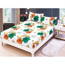 Set Husa de pat cu elastic din Bumbac Finet si 2 fete de perna Happiness 180 x 200 cm