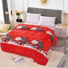 Patura Cocolino cu margine pentru pat dublu 200 x 230 Mos Craciun