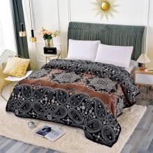 Patura Cocolino cu margine pentru pat dublu 200 x 230 Floral Style