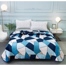 Patura Cocolino cu margine pentru pat dublu 200 x 230 Imprimeu geometric