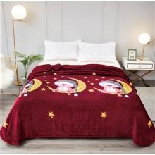 Patura Cocolino cu margine pentru pat dublu 200 x 230 Pisica pe luna