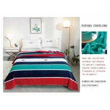 Patura Cocolino gofrata pentru pat dublu 200 x 230 cm Multicolora